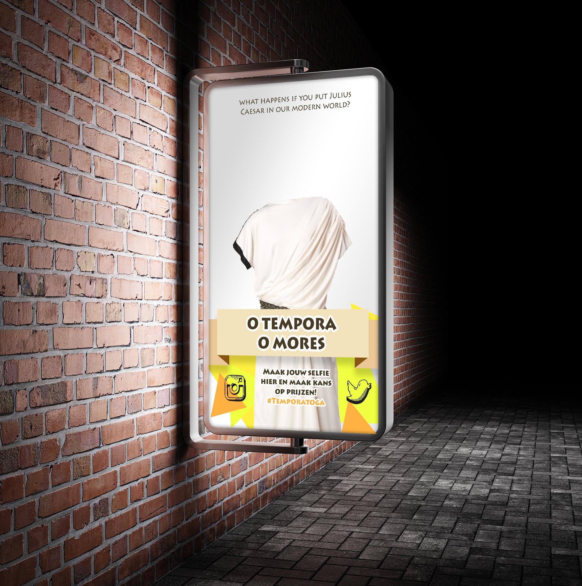 Street Advertisement Vertical Billboard Mockup